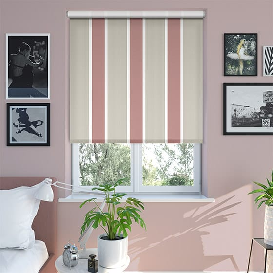 Griddle Raspberry Roller Blind