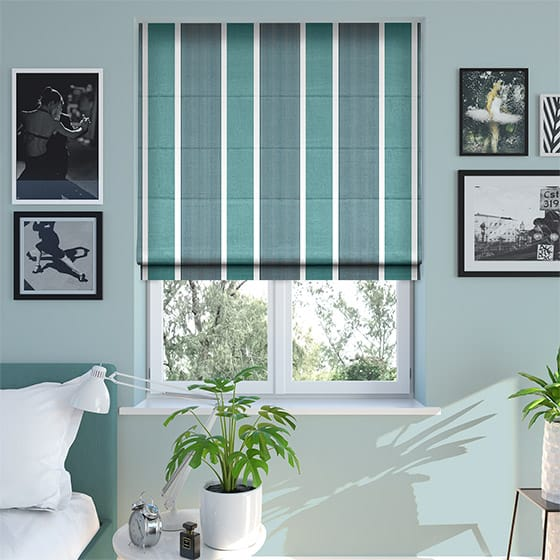 Griddle Turquoise Roman Blind