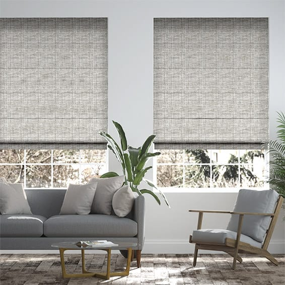 Harness Cool Grey Roman Blind