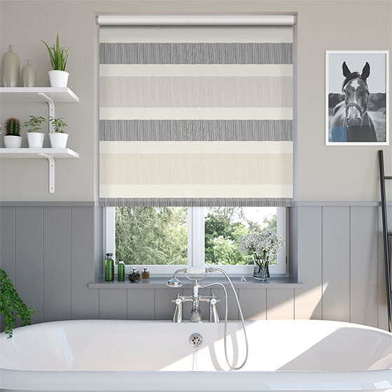 Horizon Stripe Natural Roller Blind