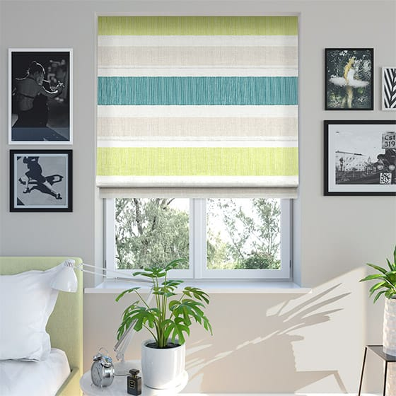 Horizon Stripe Ocean Roman Blind