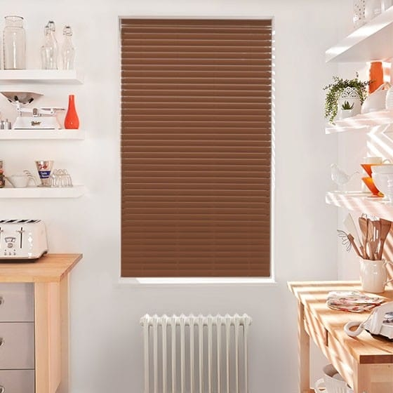 Innovations Bright Conker Faux Wood Blind - 50mm Slat