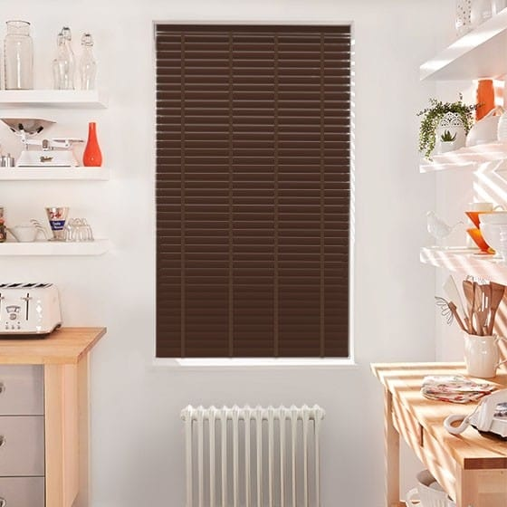 Innovations Fired Oak with Earth Tape Faux Wood Blind - 50mm Slat