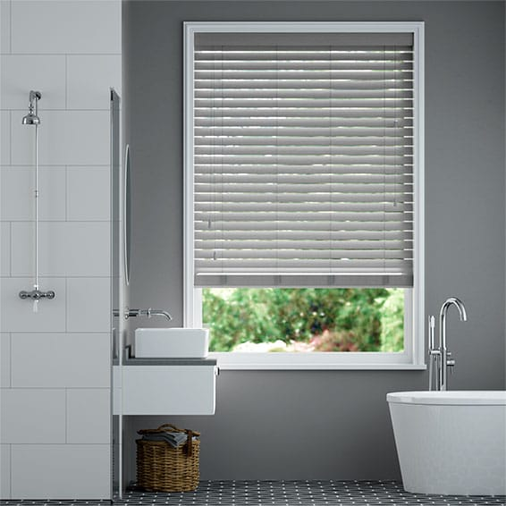 Innovations Silver Moon Faux Wood Blind - 50mm Slat