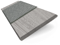 Innovations Silver Moon with Grey Tape Faux Wood Blind - 50mm Slat sample image