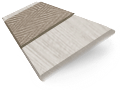 Innovations Soft Fossil with Taupe Tape Faux Wood Blind - 50mm Slat sample image