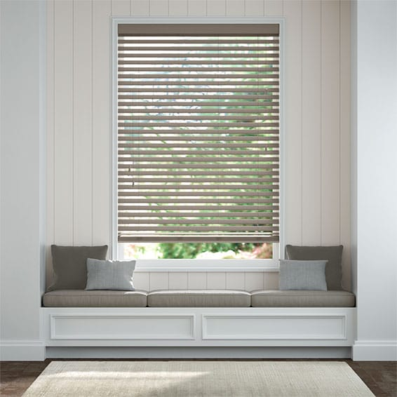 Innovations Urban Grey Faux Wood Blind - 50mm Slat