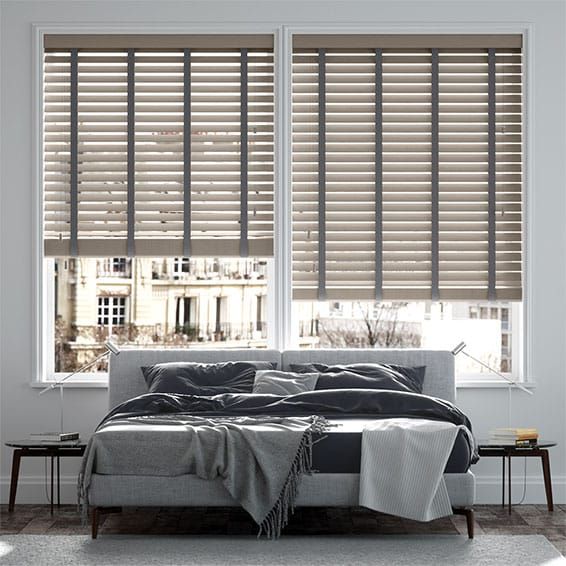 Innovations Urban Grey with Grey Tape Faux Wood Blind - 50mm Slat