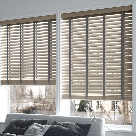 Innovations Urban Grey With Grey Tape Faux Wood Blind