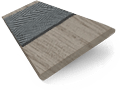 Innovations Urban Grey with Grey Tape Faux Wood Blind - 50mm Slat sample image