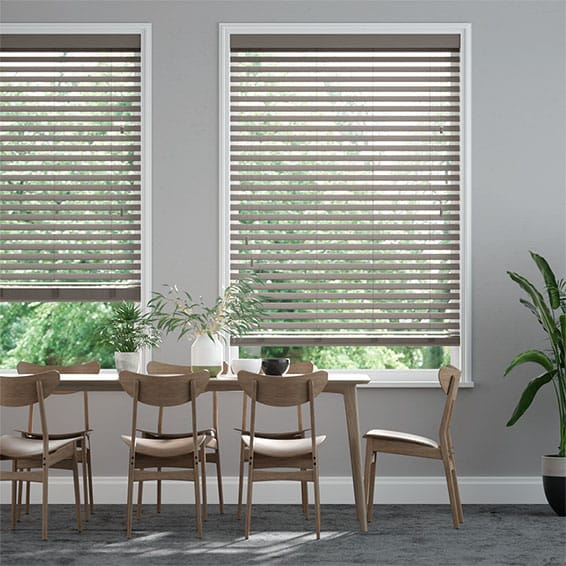 Innovations Warm Slate Faux Wood Blind - 50mm Slat