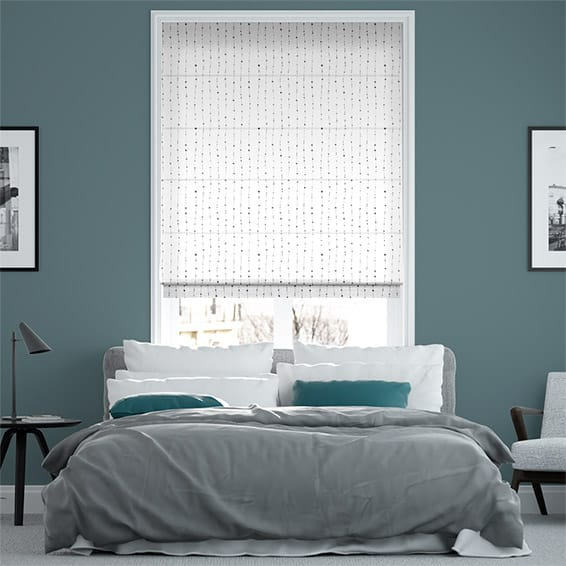 Knots Pewter Roman Blind