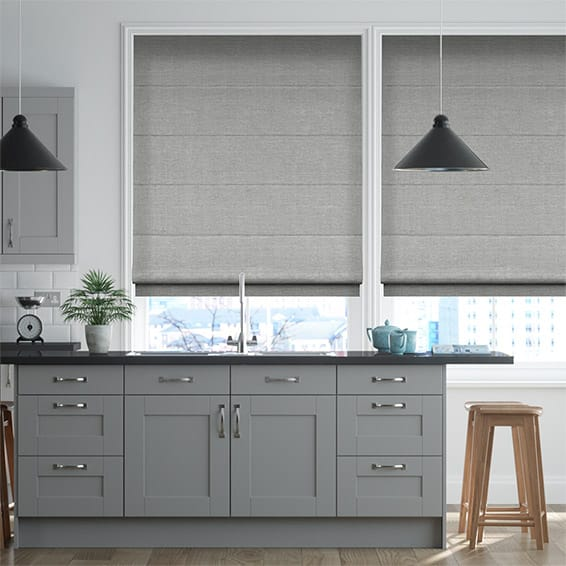 Lakeshore Mid Grey Roman Blind