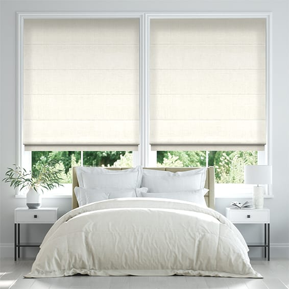 Lakeshore Soft White Roman Blind