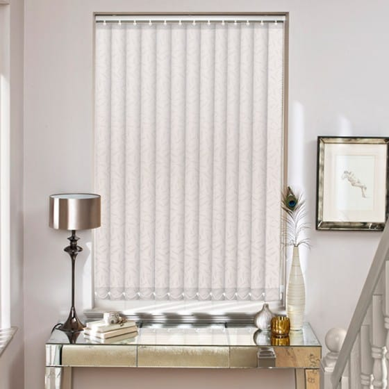 Leafy White Vertical Blind