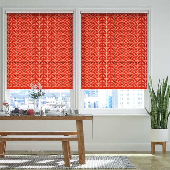 Linear Stem Tomato Roller Blind