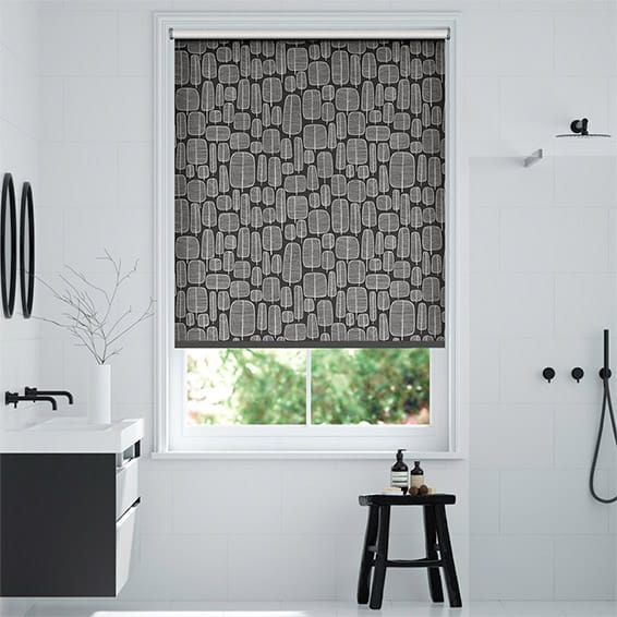 Little Trees Charcoal Roller Blind