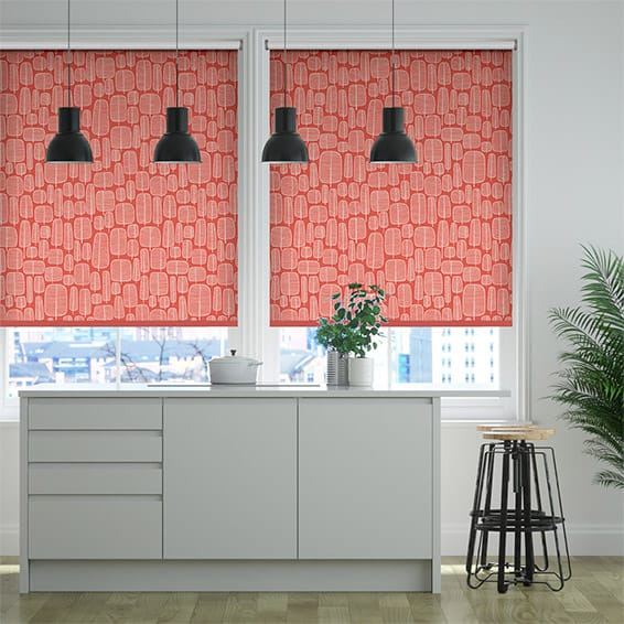Little Trees Chilli Roller Blind