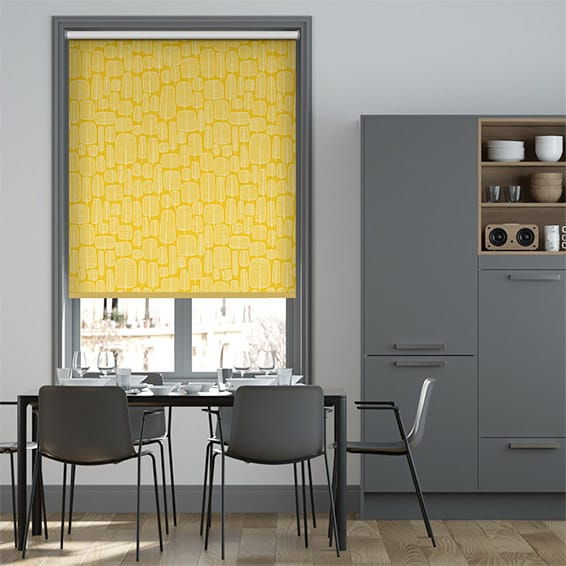 Little Trees Yellow Roller Blind