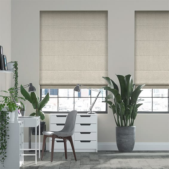 Luciana Lightest Taupe Roman Blind