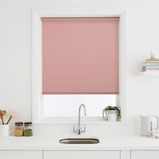 Luna Baby Pink Blackout Roller Blind Stunning Blinds For Baby Room