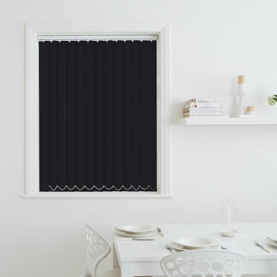 Luna Black Blackout Vertical Blind