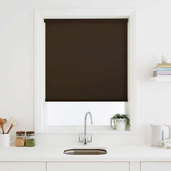 Luna Chocolate Blackout Roller Blind