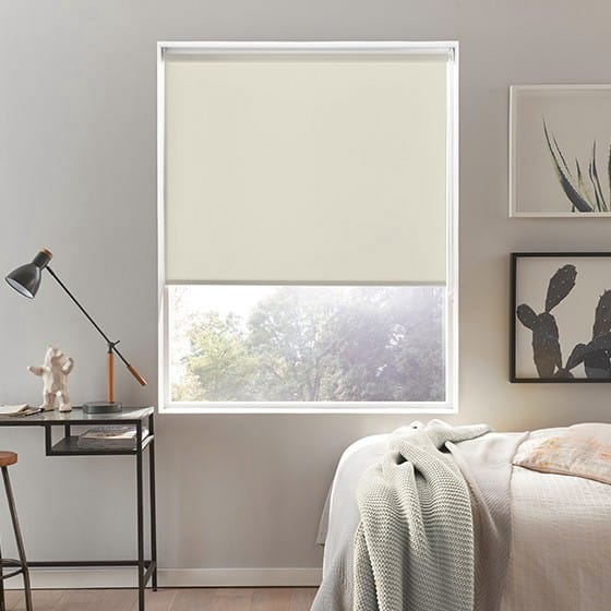 Luna Cream Blackout Roller Blind