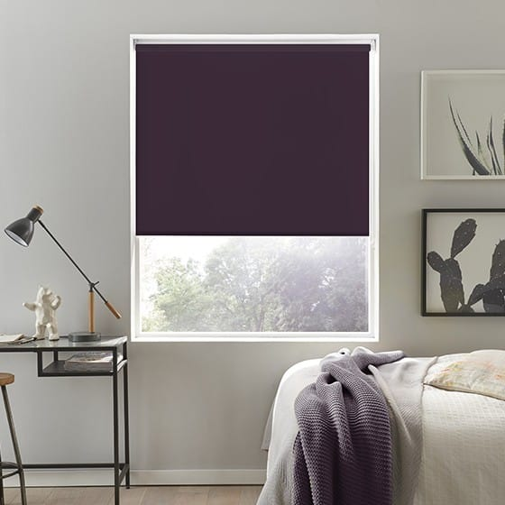 Luna Damson Blackout Roller Blind