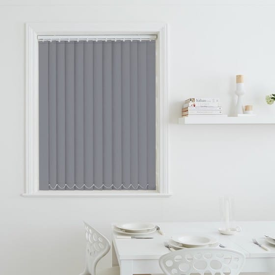 Luna Dove Grey Blackout Vertical Blind