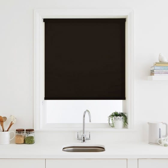 Luna Ebony Blackout Roller Blind