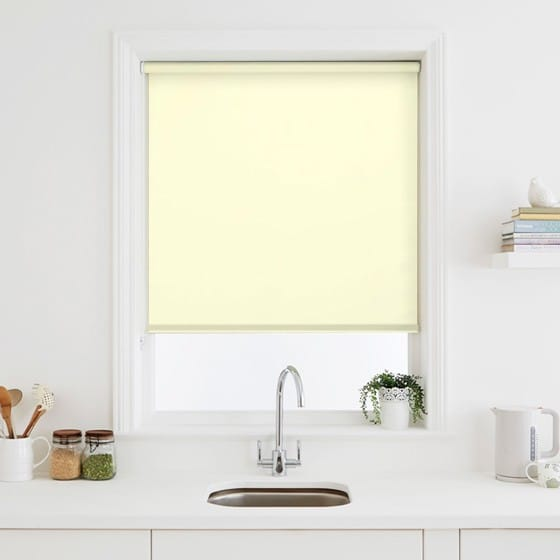 Luna Ivory Blackout Roller Blind