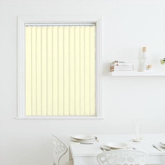 Luna Ivory Blackout Vertical Blind