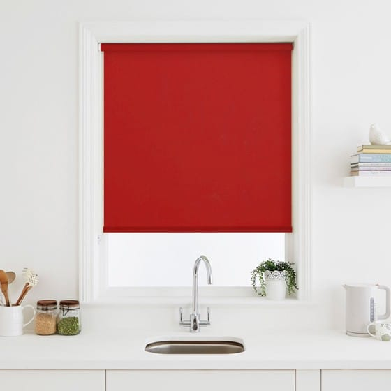 Luna Red Blackout Roller Blind