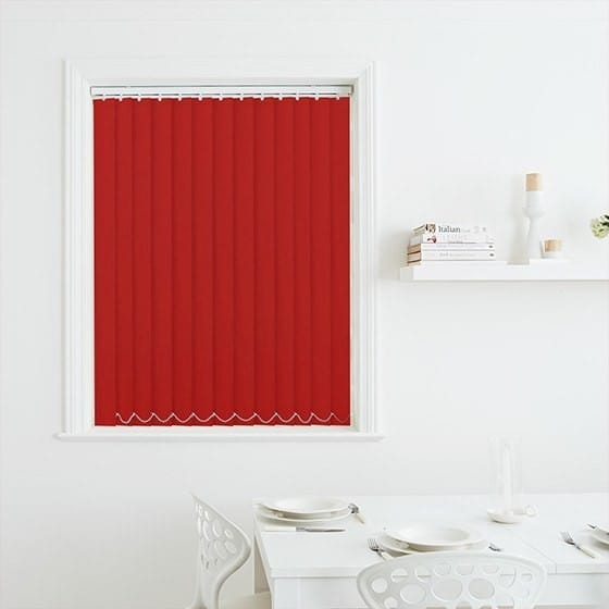 Luna Red Blackout Vertical Blind