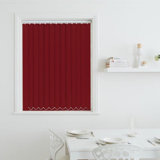 Luna Scarlet Blackout Vertical Blind