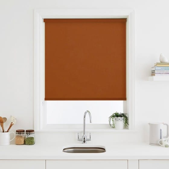 Luna Terracotta Blackout Roller Blind