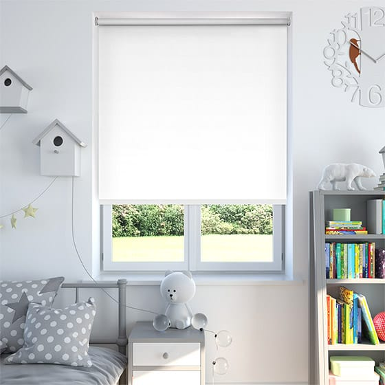 Luna White Blackout Roller Blind