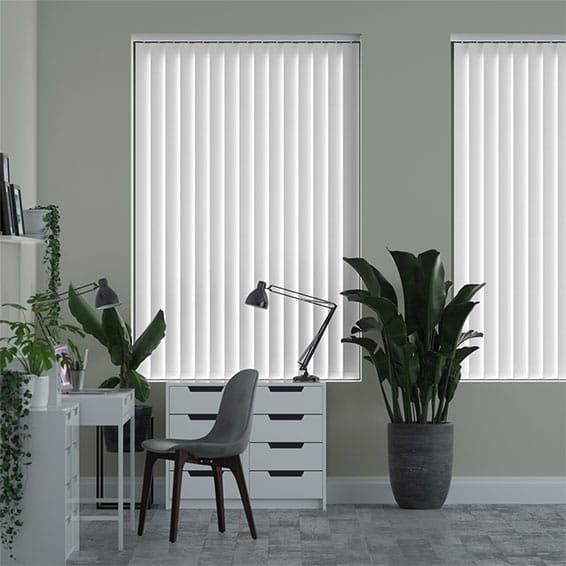 luna white blackout vertical blind. Black Bedroom Furniture Sets. Home Design Ideas