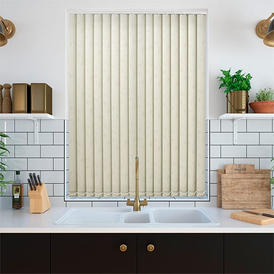 Mallory Clotted Cream Vertical Blind