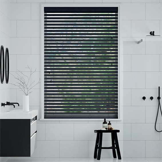 Metropolis Coal Black Wooden Blind