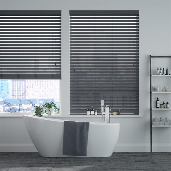 Metropolis Iron Grey Wooden Blind