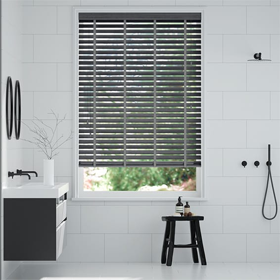 Metropolis Iron Grey & Asphalt Wooden Blind