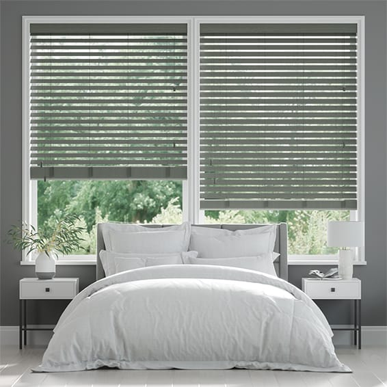 Metropolis Urban Grey Wooden Blind