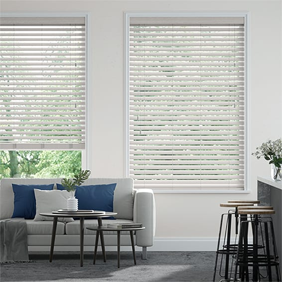 Metropolis Whisper White Wooden Blind