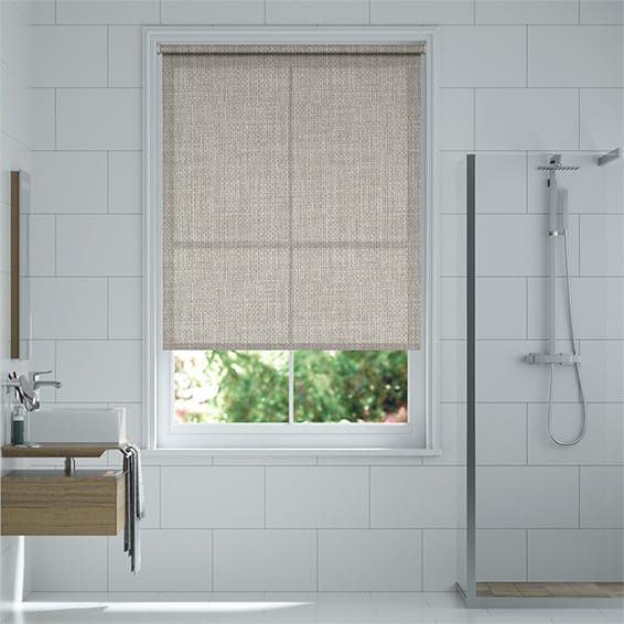 Michel Stitched Grey Roller Blind