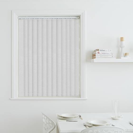 Milano White Vertical Blind