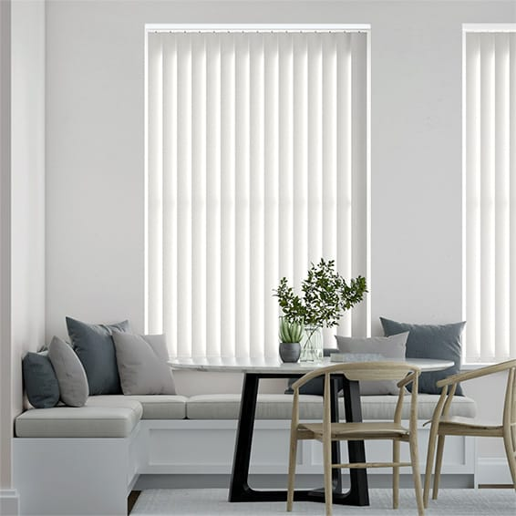 Murcia White Vertical Blind