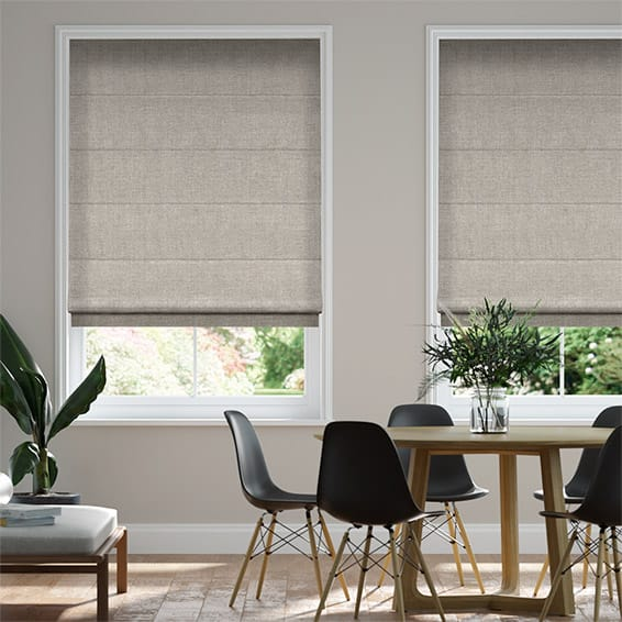 Natural Linen Rustic Roman Blind