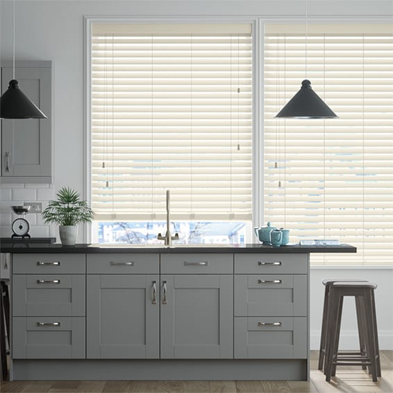 Origin Buttercream Wooden Blind - 50mm Slat